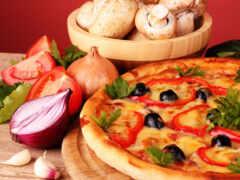пицца, champignon, mushroom