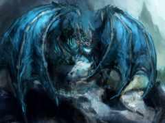 дракон, ледяной, фэнтези