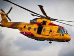 вертолет, авиация, желтый