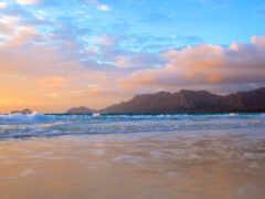 море, закат, water