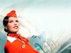 стюардесса, аэрофлот, красивый