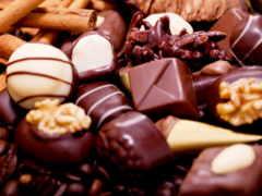 sweets, chocolate, орехи