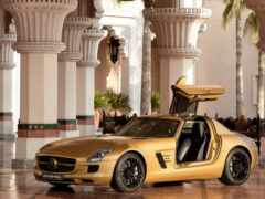 mercede, золотистый, car