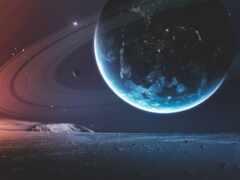 planeta, kosmos, pantalla