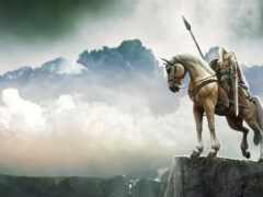 воин, лошадь, fentezti