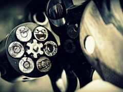revolver, drum, оружие