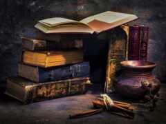 книги, старые,
