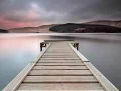 озеро, pier, шотландия