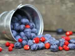 ягода, клубника, черника