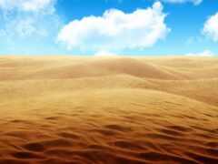 пустыня, песчаный, небо