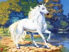 единорог, white