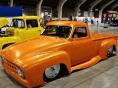 ford, yellow, custom