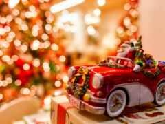новый год, праздник, машина