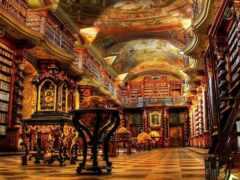библиотека, klementinum, прага