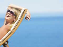 пляж, женщина, sunglasses