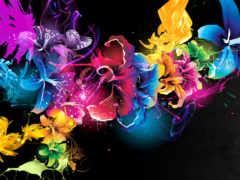 краски, cvety, абстракция