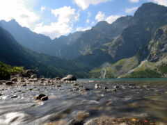 гора, река, клип