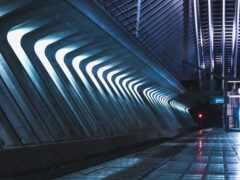 туннель, underground, серый