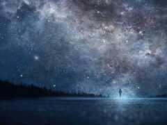 небо, star, ночь