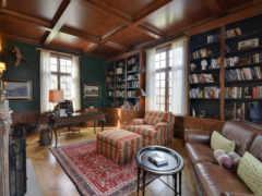interer, кабинет, библиотека