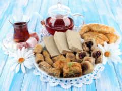 сладость, чая, напиток