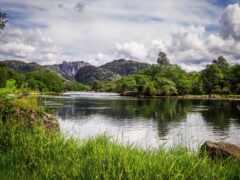 озеро, norwegian, отражение