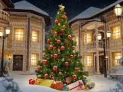 елка, новогодняя, фотофон