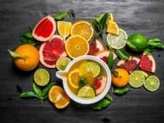 плод, коктейль, цитрус