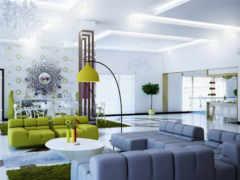 design, гостиной, современной