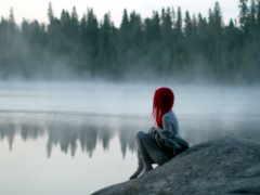 девушка, озеро, lost