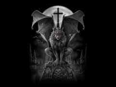 gothique, ecran, fonds