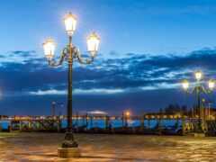 фонарик, ночь, вечер