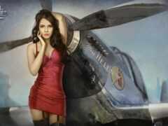 девушка, world, warplanes