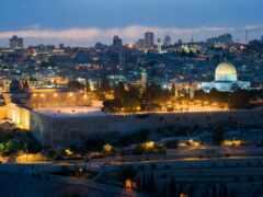 иерусалим, israel, ночь