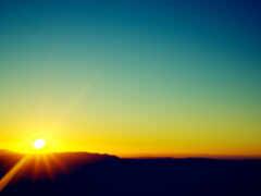 восход, утро, небо