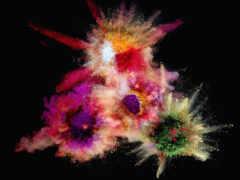 взрыв, color, свет