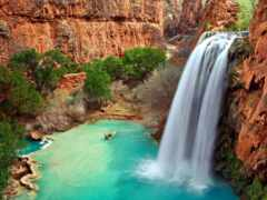 водопад, ущелье, который