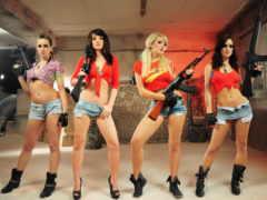 girls, guns, трусы