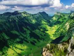 горы, высоты, птичьего