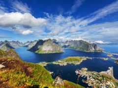 norwegian, landscape, горы