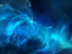 blue, nebula, космос