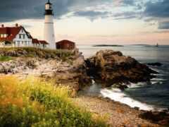 маяк, more, побережье