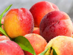 персики, фрукты, нектарин