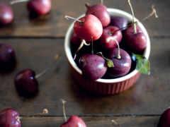 cherry, спелая, ягоды