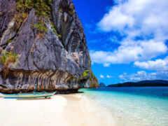rock, пляж, philippines