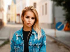 молодой, женщина, красивый