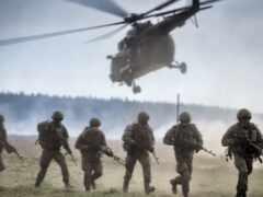 спуск, вертолет, land