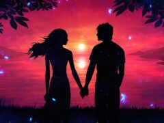 пара, love, рука