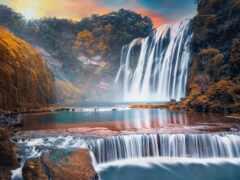 водопад, china, devostock