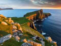 море, побережье, lighthouse